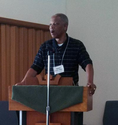 Rev. Gary Luther Myers giving the keynote at the Association Meeting