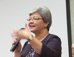 June Boutwell talking