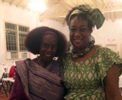 Charmaine with Rev. Yvonne Delk