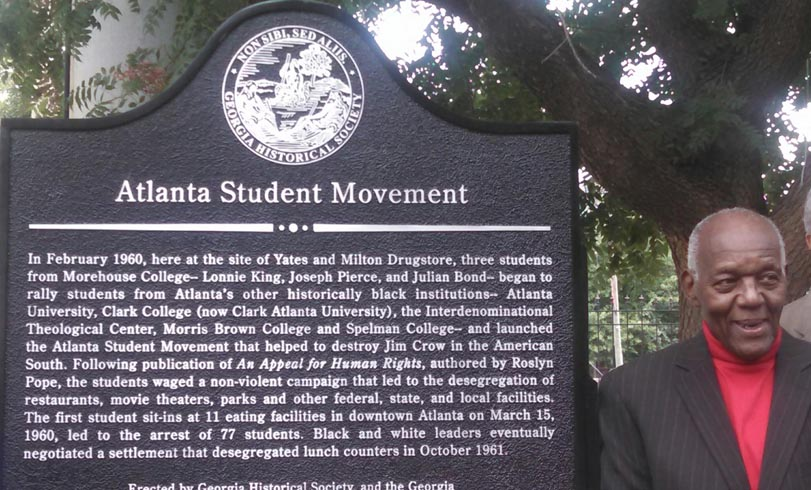 Mr. Lonnie King Dedication of Atlanta Student Movement marker