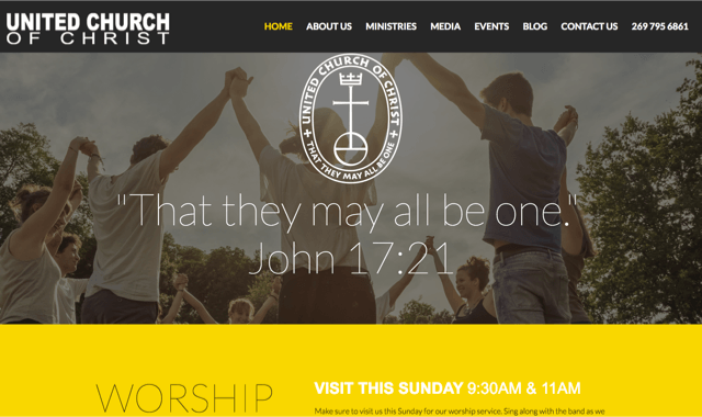 UCC Web Partner Offering Free Church Websites | Southeast Conference,  United Church of Christ